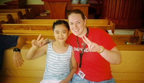 This little girl's name is Cherry and when I left, she made me two beautiful paper roses, which I still have 11 years later!