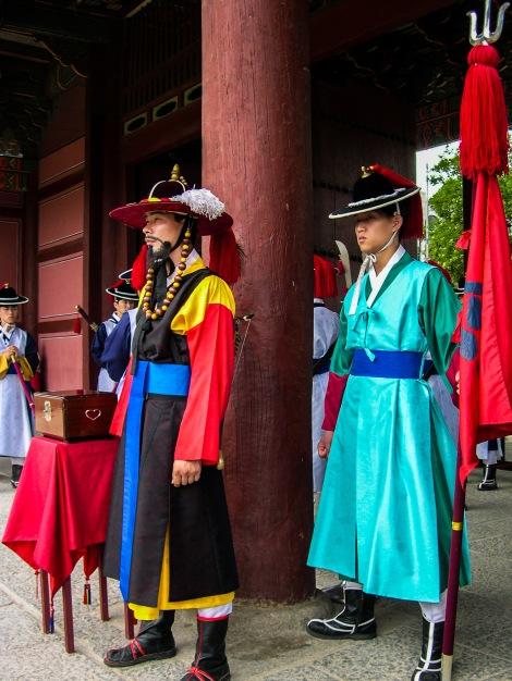 The Royal Guard at Gyeongbokgung Palace