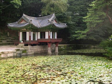 Building on the water at Gyeongbokgung Palace