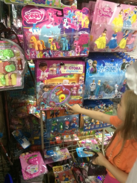 """Sofie really wanted a Doc McStuffins (or Doctora Juguetes """"Toy Doctor"""" as she is called here)."""